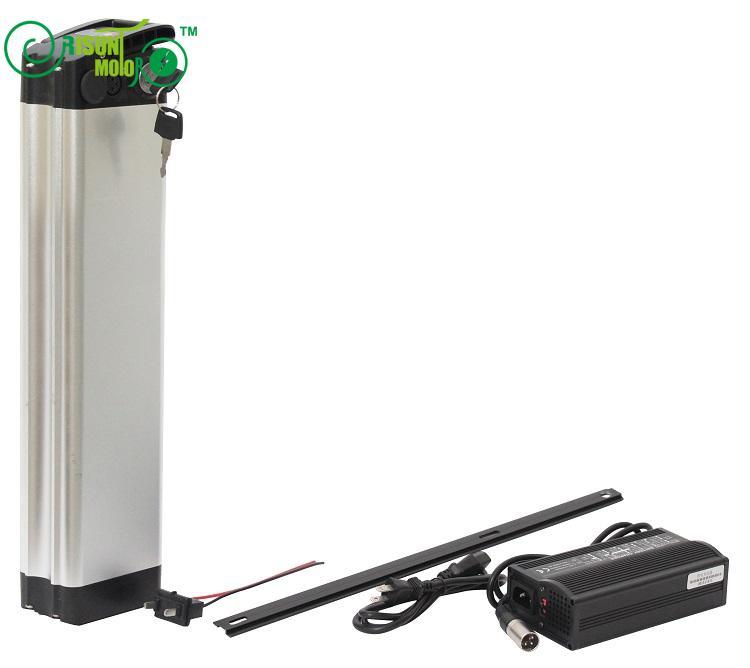 Mayor capacidad 48 V 26.1AH ebike li-ion para NCR18650PF celular con el caso de aluminio Delgado BMS y 5A cargador rápido