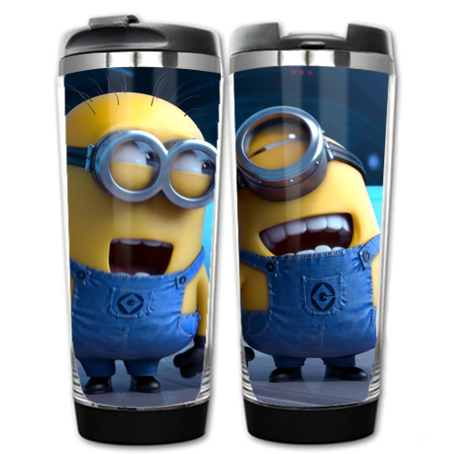 HOT SALE Despicable me Models Minions Double Insulation Plastic Stainless Steel Mug Coffee Cup