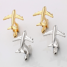 Jin&Ju 2017 Plane Classic Design Wedding Jewelry Two Color Imitation Plated Style For Men Cuff Links