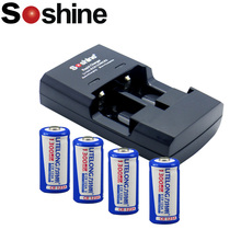 4pcs/lot Cr123a battery lifepo4 rechargeable battery cr123a
