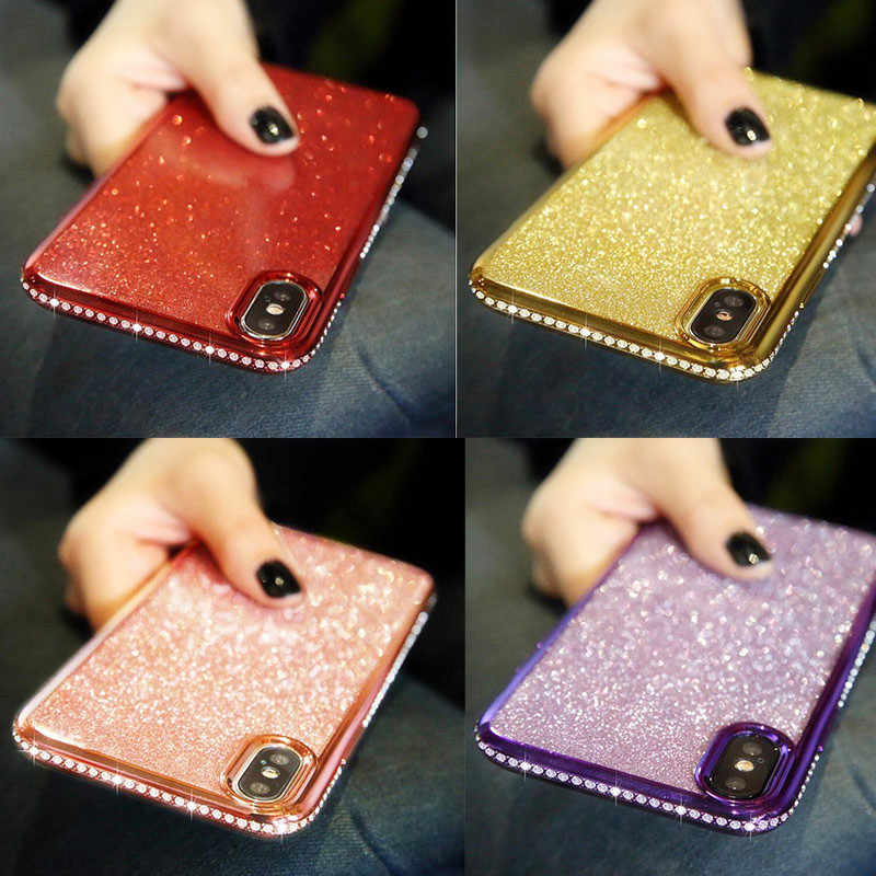 Glitter Soft Case For OPPO F5 Bling Diamond Cover for oppo reamle 3 A83 A59 F1S R9S PLUS R11 A79 A3 s A57 R7 PLUS R9 RENO case