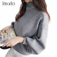 TissarLG Women Sweater Pullover Full Lantern Sleeve Casual Winter Warm Sweater Turtleneck