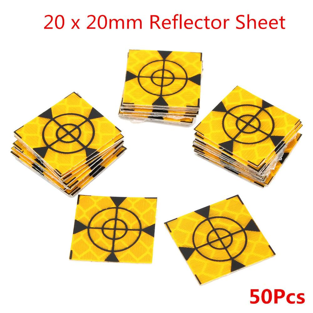 100pcs Reflector Sheet 20 x 20mm Reflective Tape Target Widely Used In Enginee ...