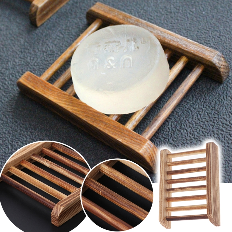 Wooden Soap Holder Handmade Bathroom Anti-Skid Soap Dish Sink Drain Holder Sundries Rack ...