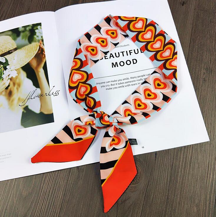 Leopard Print   Scarf   Bag Ribbons 2019 New Print Silk   Scarf   Women Female Headwear Handbag Small Long   Scarves   &   Wraps   Wholesale