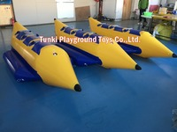 Inflatable obstacle water game for adults inflatable floating obstacle banana boat 3 seats