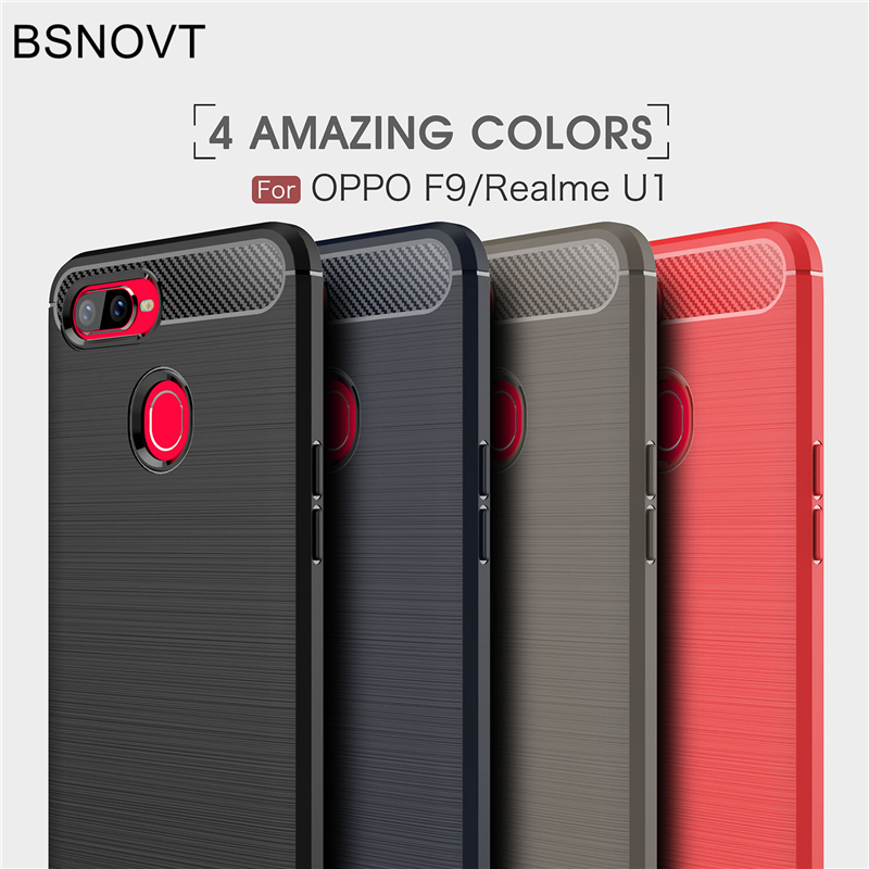 BSNOVT For OPPO Realme U1 Case Cover Shockproof Silicone Brushed Bumper Case For OPPO Realme U1 Case Fundas 6.3