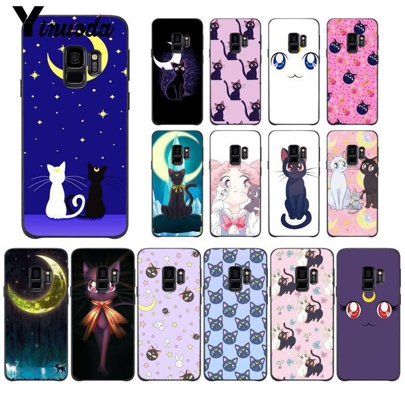 Half-wrapped Case The Cheapest Price Yinuoda Sailor Moon Beautiful Pink Purple Cat Luna Tpu Soft Phone Case For Samsung Galaxy S8 S7 Edge S6 Edge Plus S5 S9plus Case Phone Bags & Cases