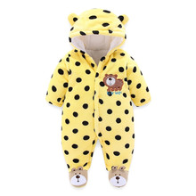 Lawadka 2018 Brand Fleece Cotton Infant Baby Footies Winter Warm Newborn Baby Boy Clothes 0-3 Months Baby Overalls