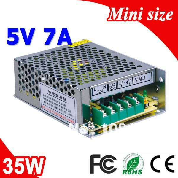 MS-35-5 110V 230V Input Small Size Single Output Switching mode Power Supply Transformer AC to DC 35W 5V 7A high quality small size mini power supply ms 35 48 35w 48v 0 73a switching power supply with wide ac input range with ce