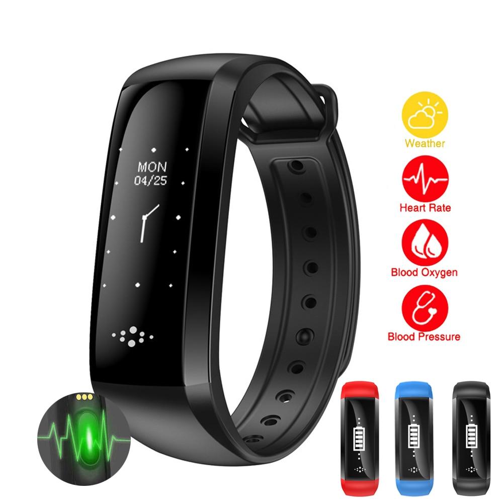 New Smart watch Measurement of blood pressure and Hartslagmeter sport watch Bluetooth Information reminder waterproof watch