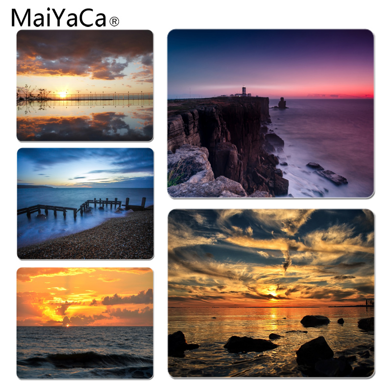 MaiYaCa Top Quality Evening Ocean Laptop Gaming Mice Mousepad Size for 180x220x2mm and 250x290x2mm Rubber Mousemats
