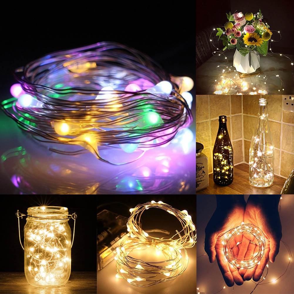 LED 2m 20 LED String Light Waterproof Copper Wire Fairy Starry Lights Firefly