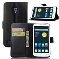 CYBORIS for Alcatel POP 2 5 inch premium OT7044 Leather Phone Case for Flip Cover Stand Wallet Bag Card Holder