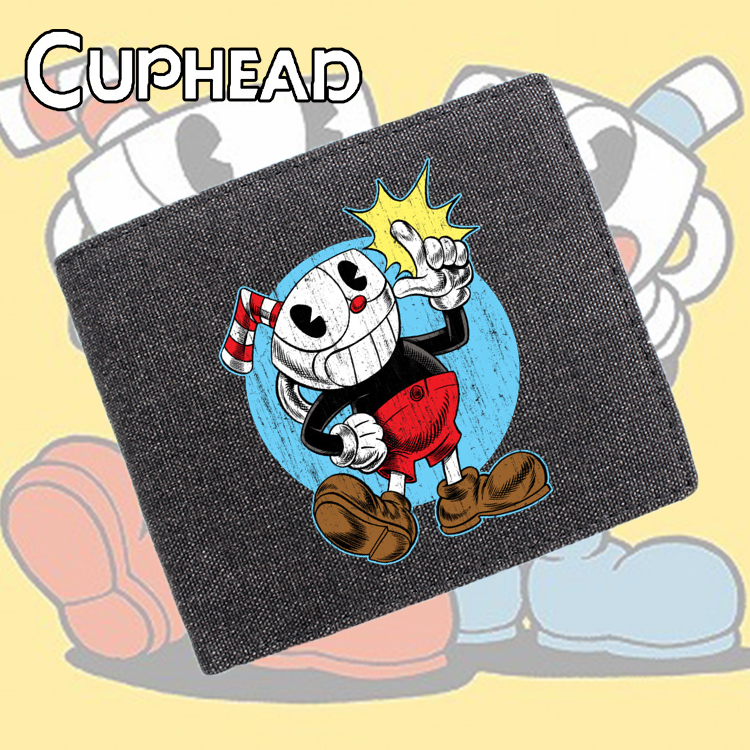 Giancomics Cuphead Shooting Game Canvas Wallet Diversiform Cartoon Fashion Money Coin Convenient Pocket Card Cool Holder Gifts