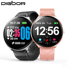 DIGOOR Smart watch Blood Pressure Oxygen Activity tracker Heart Rate Monitor Smart Fitness bracelet Waterproof Full touch screen(China)