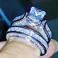 Victoria Wieck Princess Cut Antique jewelry Dazzing 925 Sterling Silver White Topaz CZ Diamond Wedding Bridal Ring Size 5-11