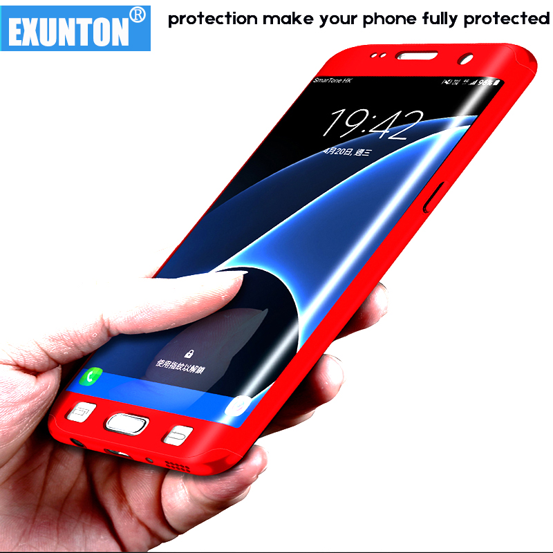 Luxury 360 degree cover Hard PC Cases For samsung galaxy s6 s6 edge case Full Protection Phone case for Galaxy S7 S7 edge shell