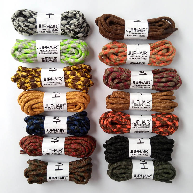 N 1-50 Pairs Cyan Coffee Round Laces Gray Purple Non-slip Outdoor Sport Hiking Sneaker Shoelace Skate Boot Bootlace String Rope