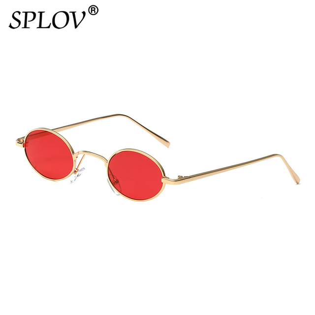 e2f22d267a8d SPLOV Vintage Oval Steampunk Sunglasses Men Women Brand Designer Small Metal  Sun Glasses Retro Driving Glasses Oculos De Sol