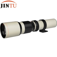 JINTU Alta Potencia 500mm f/8.0 f8 de Teleobjetivo + T de Montaje para Canon DSLR Cámaras digitales Blanco