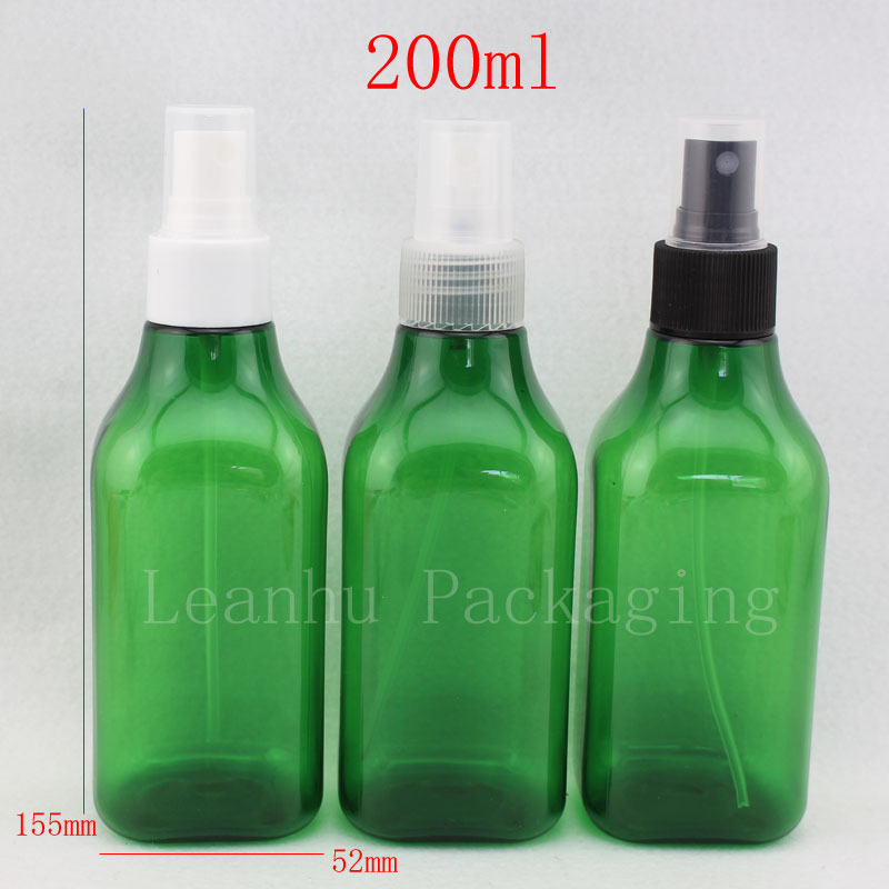 200ml green square bottle with spray