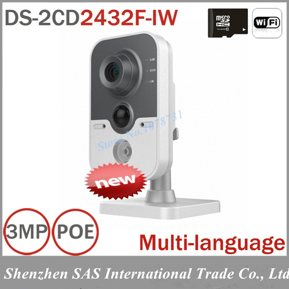 WIFI Camera DS-2CD2432F-IW 3MP Wireless IP Camera WIFI Built-in microphone DWDR & 3D DNR & BLC Two Ways Talk  цена