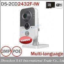 Cámara WIFI DS-2CD2432F-IW 3MP Cámara IP Inalámbrica WIFI micrófono Incorporado DWDR y 3D DNR y BLC Dos Maneras Talk