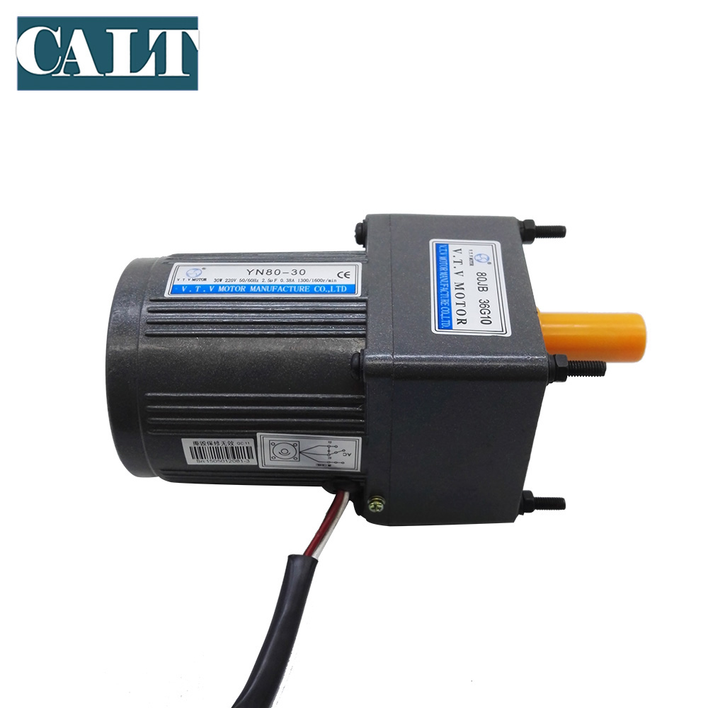 220v vtv yn80 40 ac small 3 wires gear motor 1 50 reduction ratio ouput speed 30rpm single phase motor 40w [ 1000 x 1000 Pixel ]