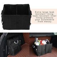 Waterproof Oxford Cloth Foldable Car Trunk Organizer Backseat Storage Bag High Capacity Auto Interior Accessories Car