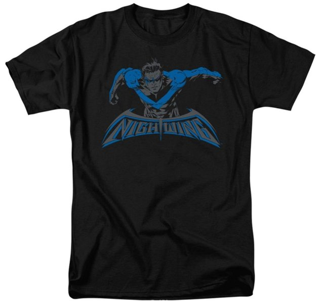 Casual Top Tee Male Short Sleeve Patternt Shirt Batman Nightwing: Wing Of The Night T-Shirt Fashion Unique Classic Cotton Men