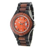 BEWELL Men's Wood Watch Top Luxury Brand Role Natural Wood Watches Automatic Date Quartz Clock High Quality Waterproof Hour 129A
