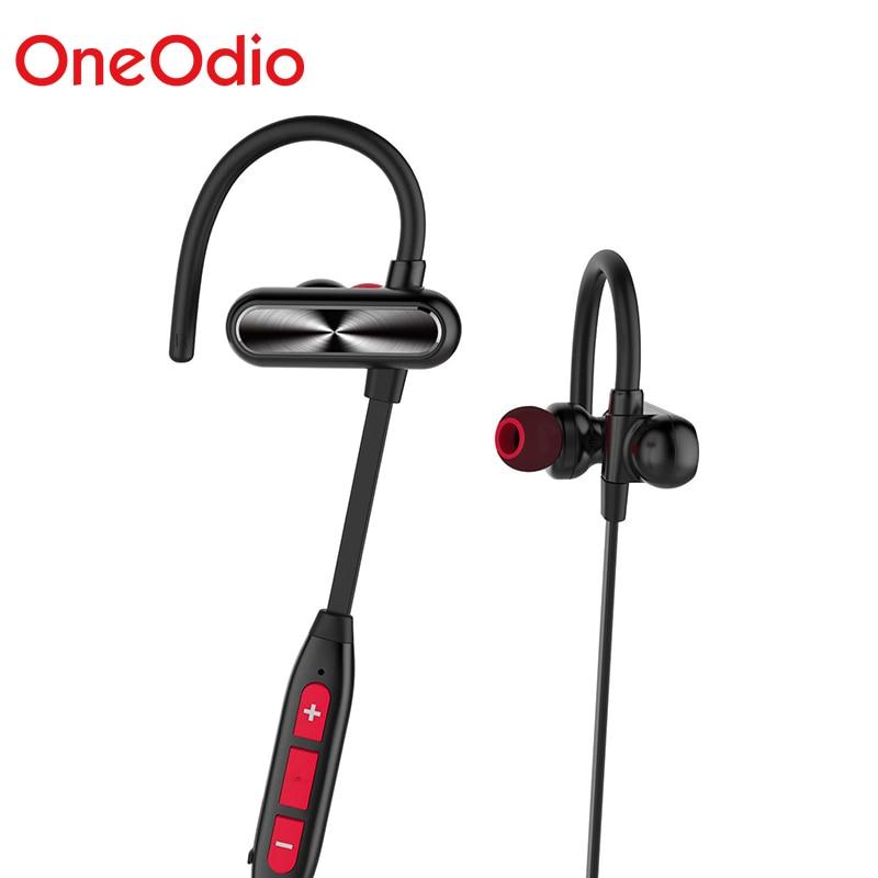 Onedio IPX7 Sweatproof deportes auriculares inalámbricos Bluetooth auricular auriculares banda para el cuello con micrófono soporte APT-X para Xiaomi