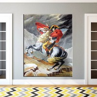 Handgeschilderde Koning Napoleon Portret Schilderen op Canvas Oorlog Paard Olieverfschilderij Wall Art Voor Room Decor Moderne Schilderijen Gift