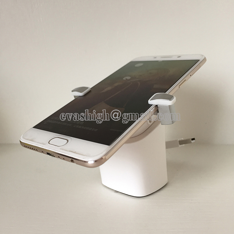 10PCS Mobile Phone Security Alarm System Stand Samsung Display Holder Cellphone Anti-theft Device With Clamp Charging Function 5pcs lot cell phone security anti theft display stand with alarm and charging function for mobile phone retail store exhibition