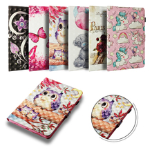 Funda Case For Amazon Paperwhite 1 2 3 4 Universal Fashion 3D Printed OWL Leather Flip Wallet Silicone Shell Coque 6