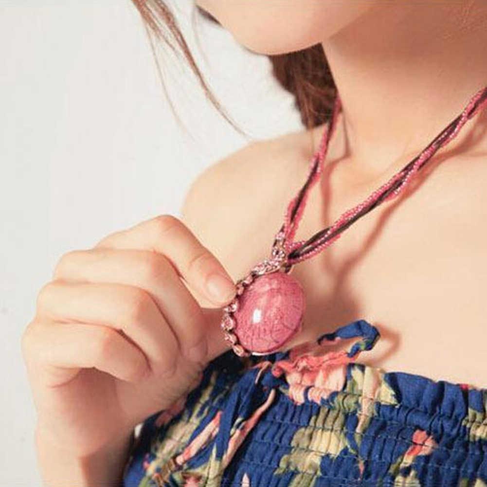 Богемные женские Стразы инкрустированные павлин круглый искусственный опал подарок, ожерелье с подвеской Новинка