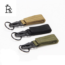 Outdoor tactical nylon webbing key chain multifunctional mountaineering olecranon hook keyring military belt buckle keychain B30 цены