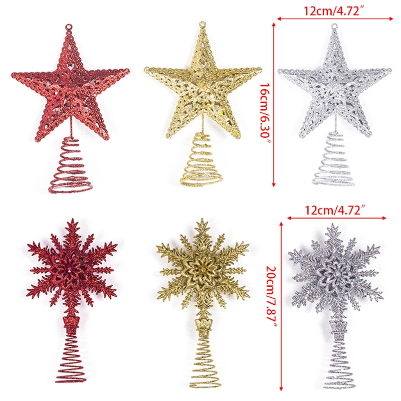 inhoo red christmas tree top decorations stars for home house table topper decor accessories ornament xmas decorative supplies in tree toppers from home