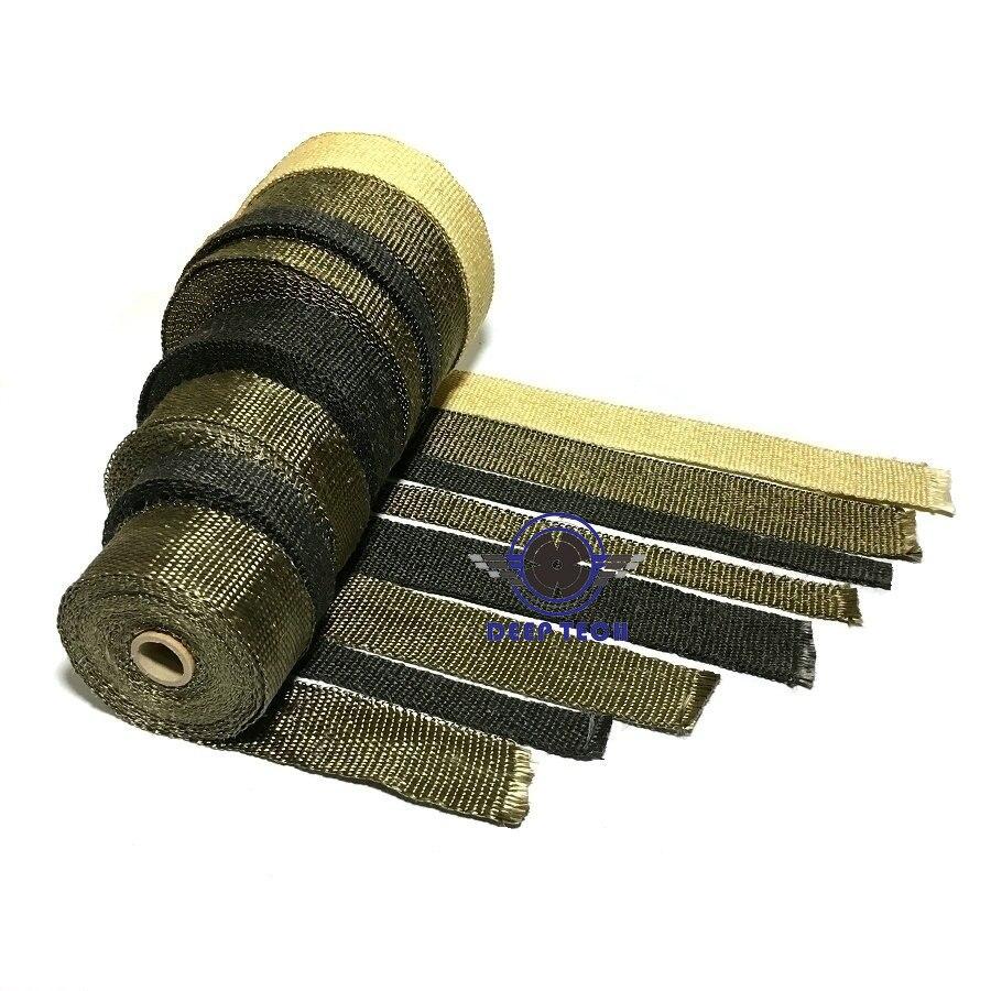 Image 5 - 2''x50' мотоциклетная обмотка для выхлопной трубы глушитель трубы коллектора Авто коллектор термостойкая обертка с 8 шт. кабельные стяжки-in Выхлопные трубы и системы from Автомобили и мотоциклы