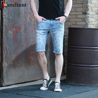 Summer Hot Sale Straight Denim Cotton Men Shorts Jeans,2017 New Fashion Good Quality Printed Casual Men Jeans Shorts,15623S-6B