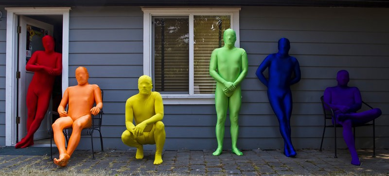 Free Shipping Spandex Lycra Zentai Full Body Costume Red/Orange/Yellow/Green/Blue/Purple Second Skin Suits