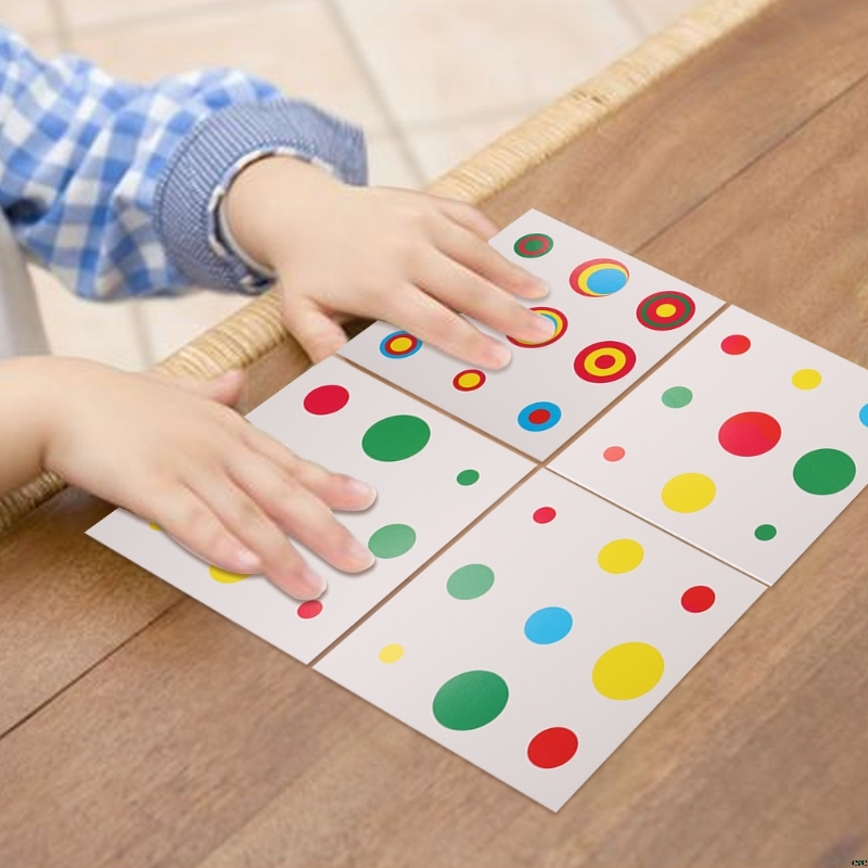 Montessori Early Childhood Colors Fast Memory Education Matching Cylinder Card