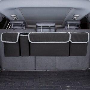 Image 5 - KAWOSEN 車のトランクオーガナイザ後部座席収納袋高容量マルチユースオックスフォード自動車カーシートバックオーガナイザー CTOB02
