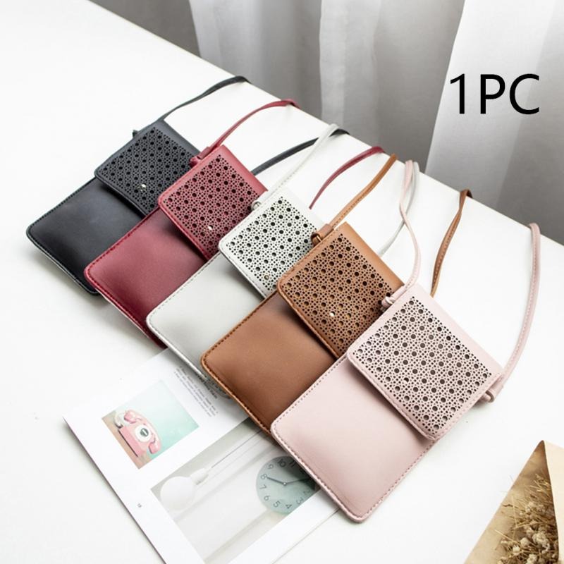 Portable Transparent Mini Messenger Bag Phone Storage Screen Touch Women Fashion PU Clear Window Student Shoulder Bag 2 in Shoulder Bags from Luggage Bags