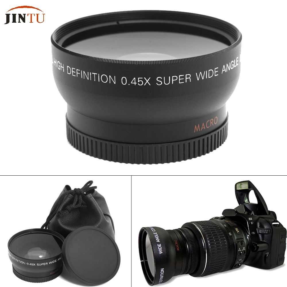 55mm 0.45X Super Macro Wide Angle Fisheye Lens for Canon NIKON PENTAX DSLR SLR Camera 55MM thread lens