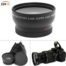 55 мм 0.45X супермакросъемки Широкий формат рыбий глаз для Canon 18-55 мм DSLR SLR Камера