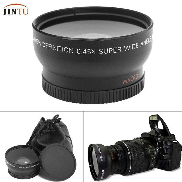 d8464a7790561 55mm 0.45X Super Macro gran angular lente de ojo de pez para Canon NIKON  PENTAX