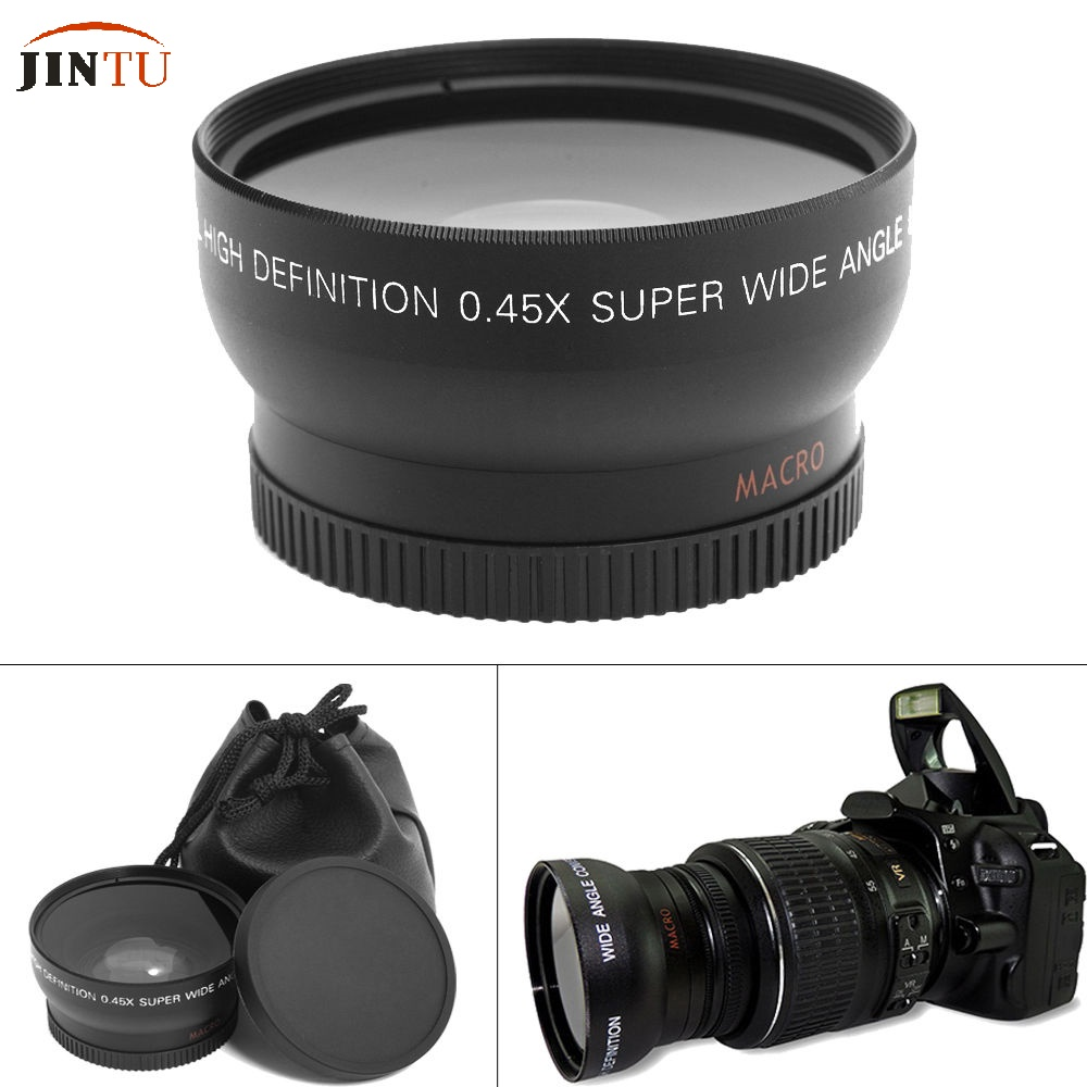 55mm 0.45X Super Macro Wide Angle Fisheye Lens for Canon NIKON PENTAX DSLR SLR Camera 55MM thread lens image