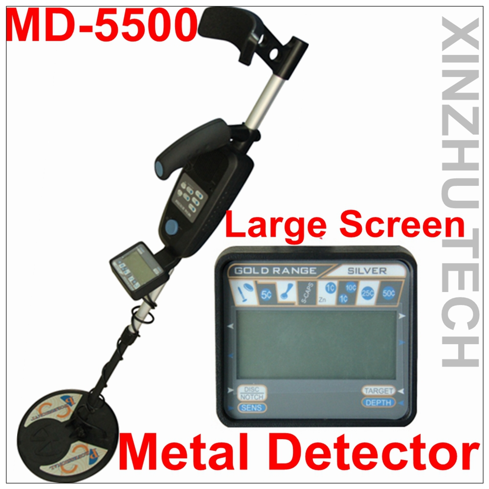 MD-5500 Metal Detector Professional Underground Gold Detector MD5500 Treasure Hunter With Two Coils sorrento